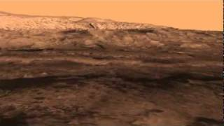 New Mars Science Rover Landing Site - Birds Eye View