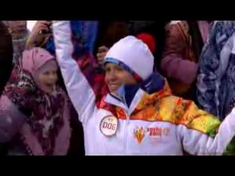 Olympic Games in Sochi 2014 Олимпийский огонь БАЙКАЛ - ТАЛЬЦЫ
