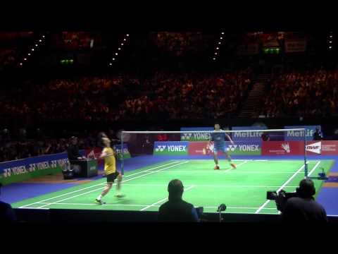 ALL ENGLAND 2014 ACTION ONLY HD Final Lee Chong Wei vs Chen Long 2nd Set Low Camera