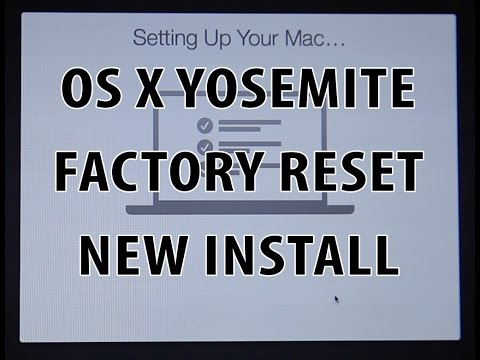 Mac - Factory reset / Fresh install on OS X Yosemite