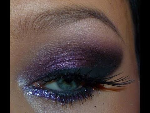Prom Makeup Purple Smokey Eye YouTube