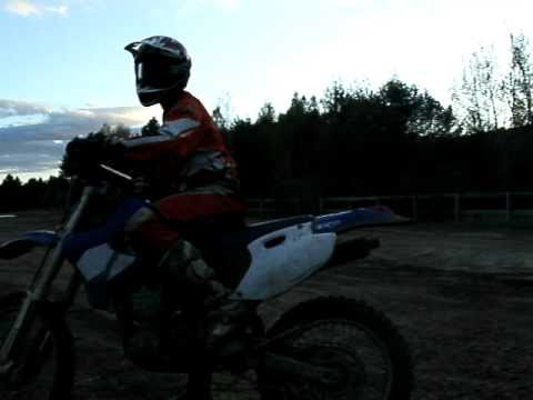 Yamaha WR426 wheelies at rivers edge Canaan NH
