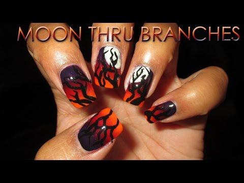 Fan Choice Friday | Moon Through Branches | DIY Nail Art Tutorial