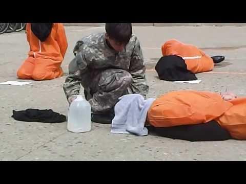 Guantanamo Bay Protest Waterboarding