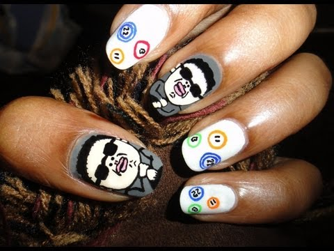 Gangnam Style Nail Art (PSY & HyunA)