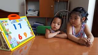 Learn to counts from 1 to 10 in English, Vietnamese with Minh Thu