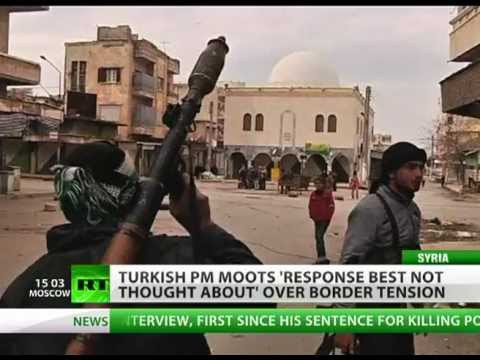 Turkey talks tough as Syrian violence boils over border
