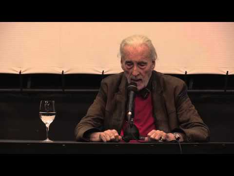 Christopher Lee talking at Film Festival Locarno 2013
