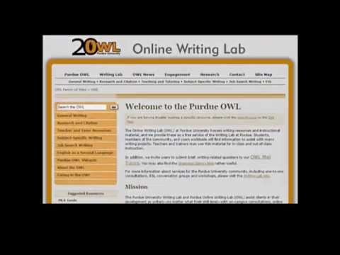 Purdue Online Writing Lab - YouTube - photo#40