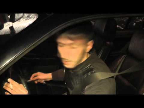 Синие габариты на BMW. Место происшествия 11.12.2014