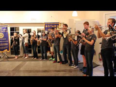 Roseburg High School band performs Zoot Suit Riot for Rotary