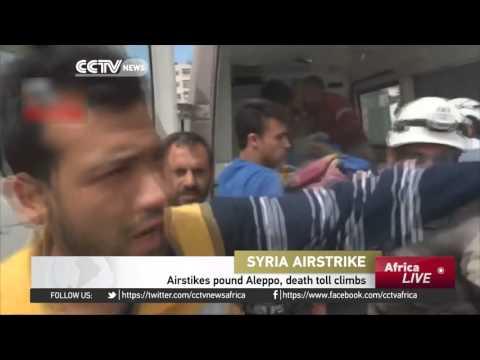 Airstrikes pound Aleppo, death toll climbs