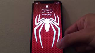Custom Animated Spiderman Wallpaper on iPhone X