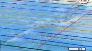 Michael Phelps new world record 100 butterfly TVC Deportes Roma 2009 NWR Phelps