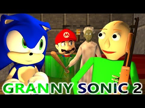 GRANNY VS BALDI & SONIC CHALLENGE 2! Ft. MARIO! (official) Minecraft Horror Game Animation Video