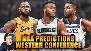 Reacting To The Official Western Conference NBA Predictions
