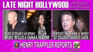 Bruce Willis & Emma Heming Dined with Sly Stallone & Jennifer Flavin H2829