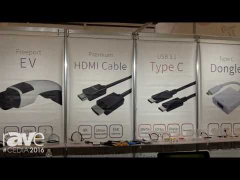CEDIA 2016: Freeport Resources Enterprises Corp. Showcases HDMI Cables, Type C USB Cables and Dongle