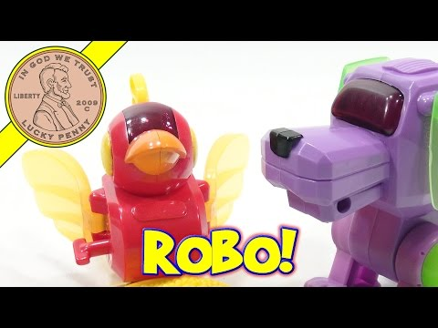 Robo-Chi Pets 2001 McDonalds Happy Meal Toy Set. Repair Time!