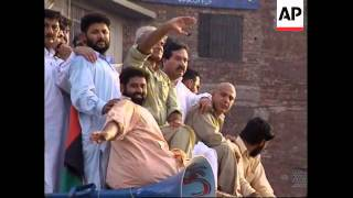 PAKISTAN: M-Q-M ANTI GOVERNMENT PROTESTS