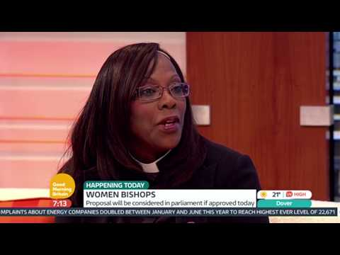 Rev Yvonne Clarke Discusses Should The Church Of England Accept Women Bishops - Good Morning Britain