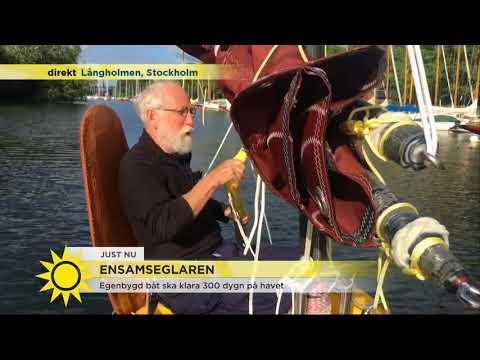 """Ensamseglaren: """"Jag kommer att vara ute till havs i ett år"""" - Nyhetsmorgon (TV4)"""