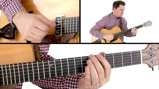 Walking Bass Jazz Guitar Lesson - Substitution Blues: Performance - Sean McGowan