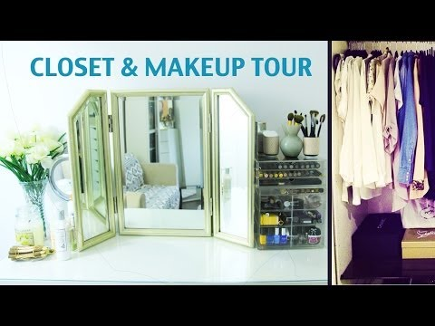 NEW ROOM TOUR! CLOSET/ MAKE-UP ROOM!