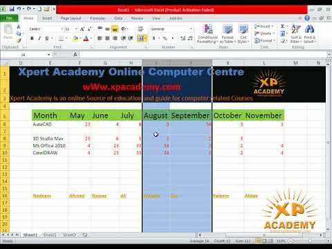 Ms Excel Urdu Tutorials | Insert Row and Column