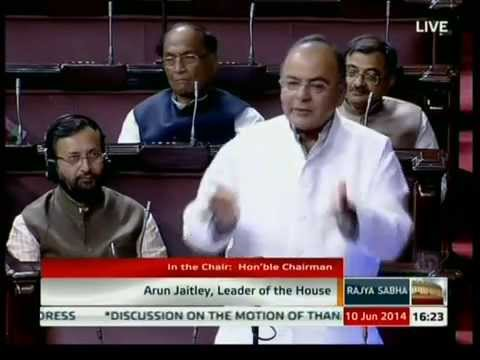 Finance Minister Shri Arun Jaitley speech on the motion of thanks on President's address