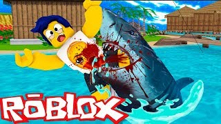 WE ARE ATTACKING A GIANT SHARK IN ROBLOX 💀😱