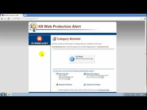 Un-install Bluecoat K9 Web Protection Without Password