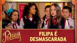 Microfone vaza e Filipa é exposta na escola | As Aventuras de Poliana