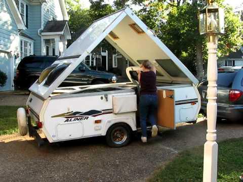 Aliner Folding Camper - Easy take down demonstration
