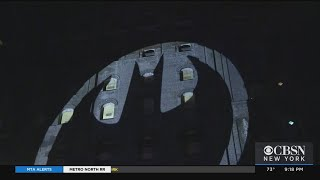 Bat Signal Goes Up In New York