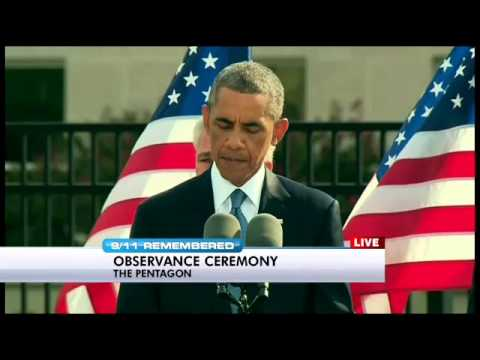 President Obama, Defense Secretary Chuck Hagel speak at Pentagon 9/11 anniversary event