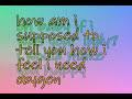 Oxygen - Colbie Caillat (lyrics)