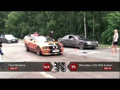 Ford Mustang vs Mercedes Benz CL65 AMG Evotech Music Videos