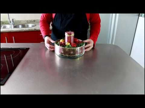 Tutorial de Navidad - Centro de Mesa Navideño // How to make a christmas centerpiece