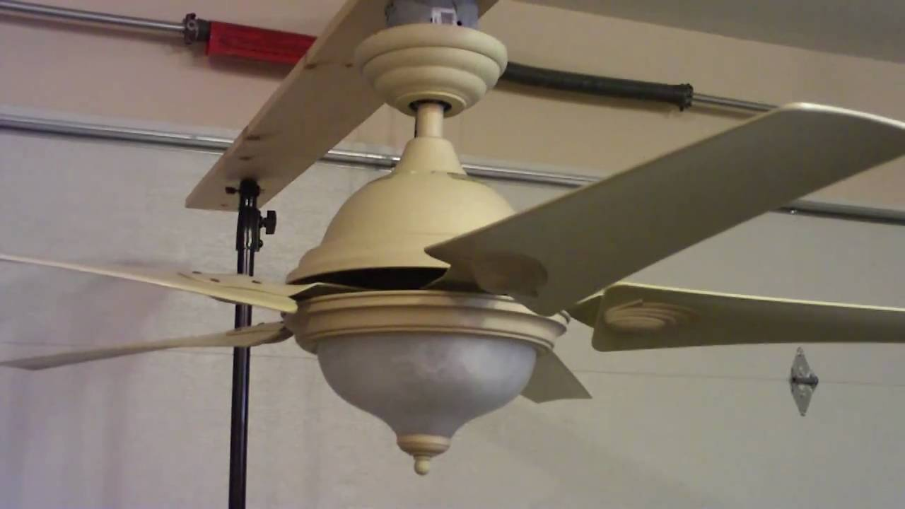 54 Quot Hampton Bay Callaway Ii Ceiling Fan With Remote Youtube