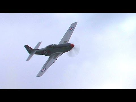 Low level P-51 Mustang flyby with awesome V-12 Merlin audio