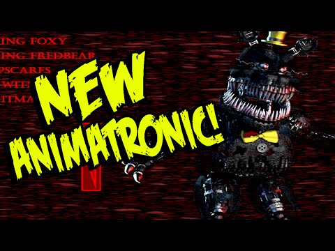 "Five Nights at Freddy's 4: NEW ANIMATRONIC! ""NIGHTMARE"" And ALL ANIMATRONICS! | FNAF 4 SECRET"
