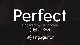 Perfect Higher Acoustic Guitar Karaoke Ed Sheeran