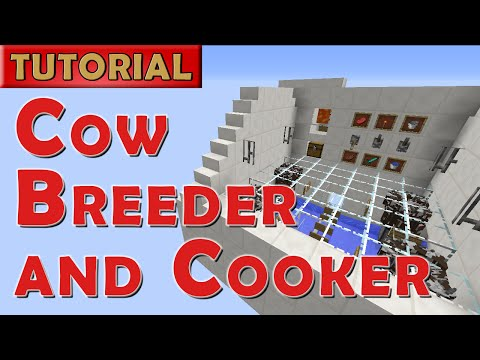 Minecraft Tutorial - Cow Breeder and Cooker