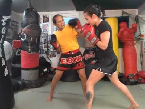 Five Punch Combination on Mitts - Master K Muay Thai Image 1