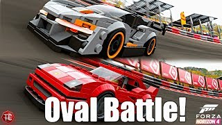 Forza Horizon 4: LEGO Expansion! MAXED OUT McLaren Senna vs Ferrari F40 C at the Oval Track!!