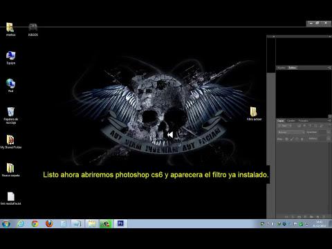 COMO AGREGAR FILTRO EXTRAER A PHOTOSHOP CS6