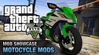 GTA 5 Motorcycle Mods - Kawasaki Ninja ZX-10R, KTM Duke 690, Harley Davidson Fat Boy and More