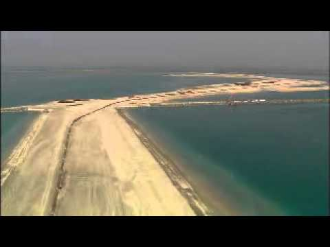 Dubai's Palm Jumeirah Project Video (Pre-Construction Aerial)