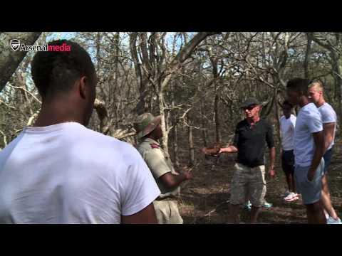 Arsenal under-19s visit Durban Safari | Tafari on safari